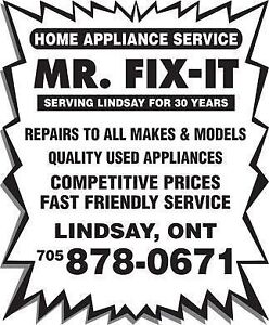 Mr. Fix-It In Home Appliance Service Kawartha Lakes Peterborough Area image 1