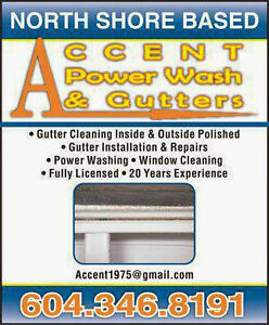 Accent Power Wash & Gutters....Windows... Roof De Moss....WCB! North Shore Greater Vancouver Area image 9
