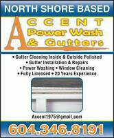 Accent Pro Gutters & Roofing***Power wash**Roof De-Moss**Windows