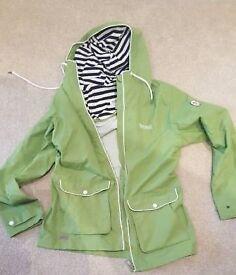 Bright Green Regatta Waterproof Jacket Size 12