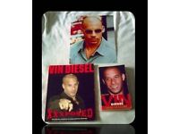 VIN DIESEL PAPERBACK BOOKS/ SIGNED PHOTO - 3 ITEMS - FOR SALE