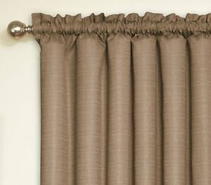 WANTED:  Black out curtains - taupe - rod pocket construction