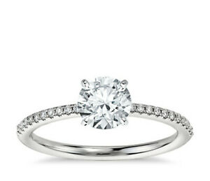 1 Carat GIA Diamond Engagement Ring In 14k White Gold