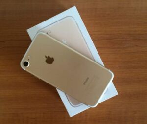 GOLD iPhone 7! 128GB with CHARGER, BOX and SIM Tool!