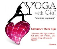 Celebrate Valentine's Week at YOGA with Cia!