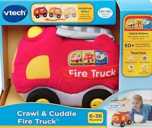 Crawl & Cuddle Fire Truck VTech  New