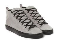Balenciaga Arena Grey Suede High Top Sneakers Size 11