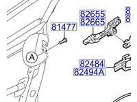 Hyundai i40 O/S/F Handle Base 826553Z000