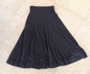 French Connection Flared Maxi Skirt, Heather Grey, Size 10
