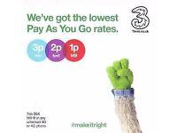 Brand new Three uk trio sim with £25 **30gb data**