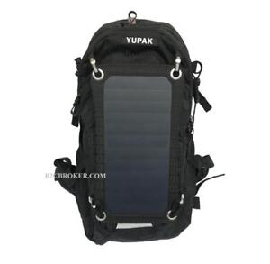 YUPAK Solar Powered Backpack with 7Watts Solar Panel & 10000 mAh Power Bank