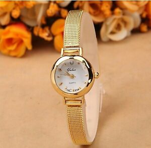 New Lady Stainless Steel Crystal Dial Quartz Analog Luxury Wrist
