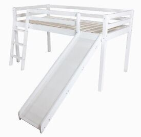 Mid cabin sleeper bed with ladder And slide