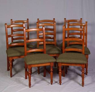 Set of 8 country style chairs brand new upholstery,DEL AVAILABLE