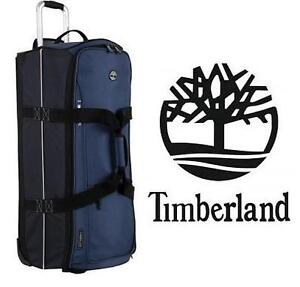 """NEW TIMBERLAND 32"""" WHEELED LUGGAGE - 109871500 - Luggage Claremont 32 Inch Wheeled Duffle, Blue/Navy/Black, One Size"""