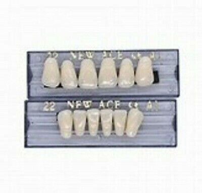1 New Set Of Anterior Three-layer Dental Acrylic Resin Teethshade A1 Ships Usa