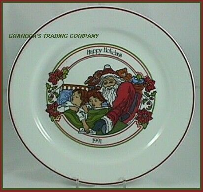 "Corelle 10-1/4"" SANTA Claus Happy Holidays 1991 Collector Dinner Plate LimitedEd"
