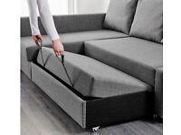 IKEA dark grey sofa bed
