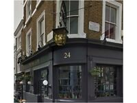 Posh Notting Hill Gastro Pub Looking for Waitress and Bar staff
