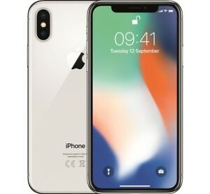 Silver iPhone X (256 GB) For Sale