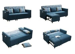 BRAND NEW CONDO SIZE FABRIC SECTIONAL L SHAPE SOFA BED