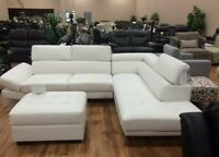 BRAND NEW LEATHER SECTIONAL COUCH ON SALE