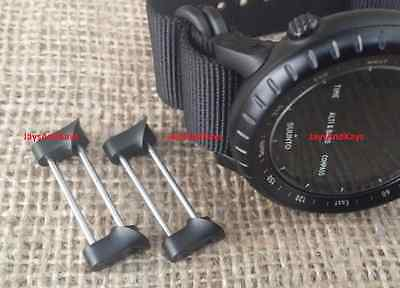 - JaysAndKays Fixed Lugs Kit for Suunto Core, Military All Black Strap Adapters