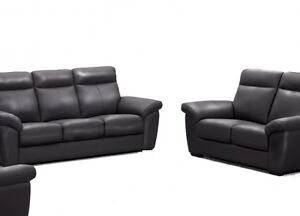 BRAND NEW TOP GRAIN REAL LEATHER SOFA SET( COUCH & Loveseat ) ON