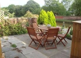 2 bed house Ashton- Preston Canal side garden