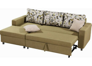 BRAND NEW Condo Size Fabric Sectional L Shape Sofa Bed ON SALE