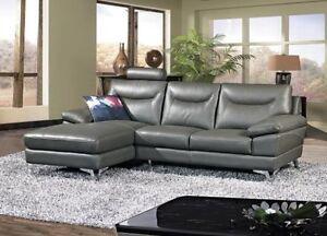 BRAND NEW REAL LEATHER SECTIONAL COUCH ON SALE