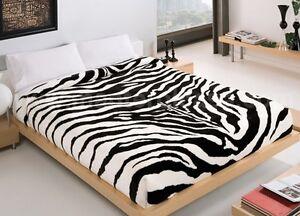 copriletto zebrato morbidissima coperta matrimoniale zebra