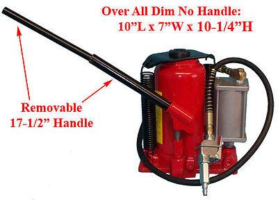 Portable 20 Ton Air Hydraulic Bottle Ram Jack 10-20
