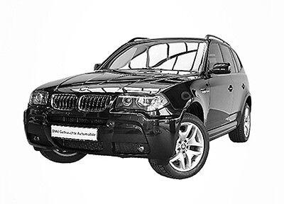 Sonnenschutz Blenden für BMW X3 2003-10//2010 Sonnenblenden 6-teilig kompl. E83