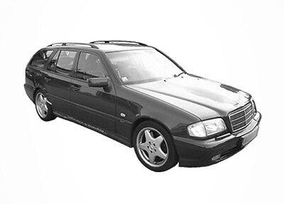3D Tönungsfolie VORGEWÖLBT Mercedes C Klasse W202 Kombi Bj 1996-2001