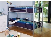 Metal bunk beds in Excellent condition. Full size