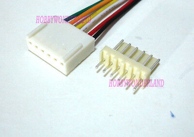 Kf2510 2.54 6-pin Female Housing Connector Plug Wire Male Pcb Header 5 Sets