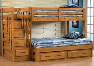 Twin/full bunkbed with stairs