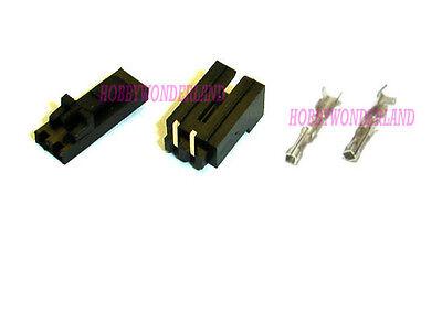 Molex 2-pin 2543 2.54mm Female Lock Connector With Male Header Crimp X 10 Sets