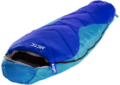 Mumienschlafsack Loftra Schlafsack Winter -23°C XXL ARCTIC Camping Comfort Blau