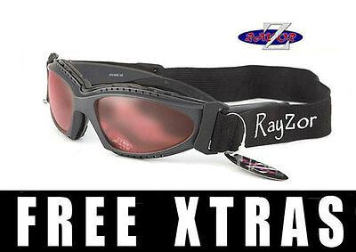 Rayzor UV400 2n1 Gris Ciclismo Bici Montaña Gafas de Sol Gafas Claro...