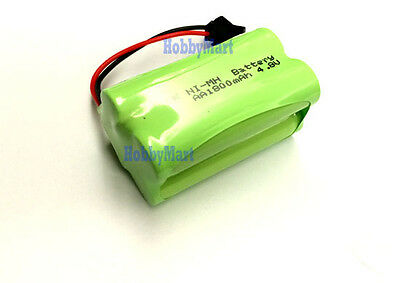 DOUBLE E TOY 4.8V Ni-MH 1800mAh 2AA  4-Cell Battery Pack wit