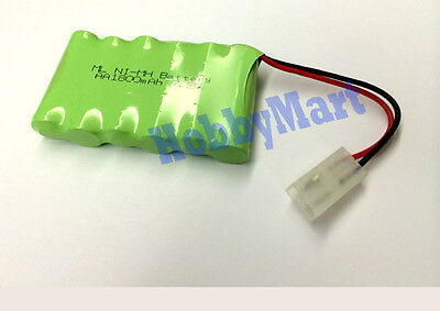 7.2V 2AA Ni-MH 1800mAh (1*6) 6-Cell Battery Pack for RC Toy Boat Car Truck Tank