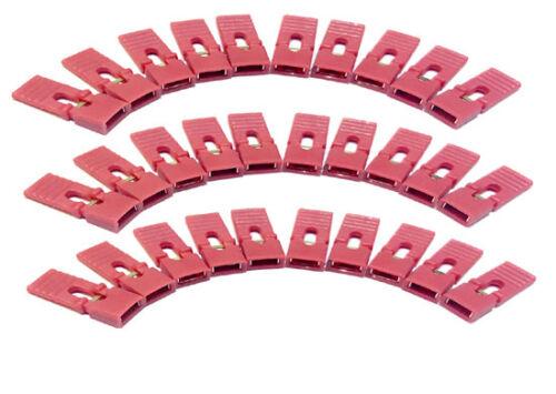 200 pcs Jumper Caps 2.54mm Mini Red color Header with handle Circuit Board Shunt