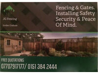 Fencing installation operating across the northwest 07707917177 / 0151 384 2444