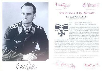 SPGL25 WWII Luftwaffe WW2 STUKA photo hand signed NOLLER KC