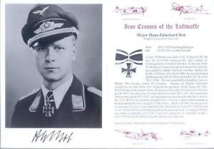 SPGL21-German-Luftwaffe-Battle-of-Britain-photo-signed-Bob-KC
