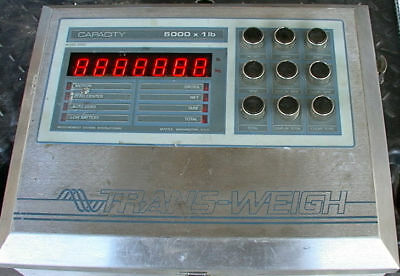 Nice Msi Trans-weigh Scale Head Stainless 5000x1lb