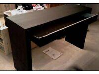 Ikea malm dressing table unit black