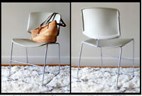 Vintage Steelcase Max-Stacker Sled-Base Chairs